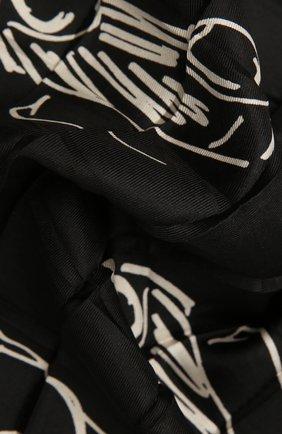Женский шелковый платок GIORGIO ARMANI черного цвета, арт. 795303/1A104 | Фото 2