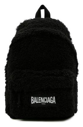 Женский рюкзак fluffy BALENCIAGA черного цвета, арт. 656436/2VX37 | Фото 1
