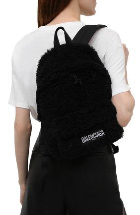 Женский рюкзак fluffy BALENCIAGA черного цвета, арт. 656436/2VX37 | Фото 2