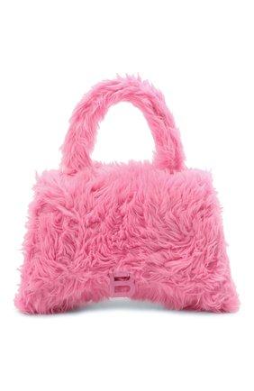 Женская сумка hourglass BALENCIAGA розового цвета, арт. 656415/HPD9Y | Фото 1 (Материал: Текстиль; Ремень/цепочка: На ремешке; Размер: medium; Сумки-технические: Сумки top-handle, Сумки через плечо)