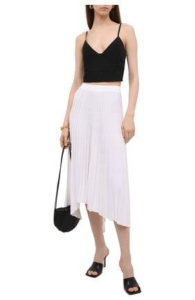 Женская плиссированная юбка MRZ белого цвета, арт. S21-0075 | Фото 2