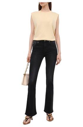 Женские джинсы 7 FOR ALL MANKIND черного цвета, арт. JSWBA490KH | Фото 2
