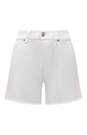 Женские джинсовые шорты 7 FOR ALL MANKIND белого цвета, арт. JSSHV690SW | Фото 1
