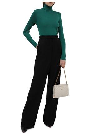 Женская водолазка из кашемира и шелка TOM FORD зеленого цвета, арт. MAK840-YAX176 | Фото 2 (Материал внешний: Шелк, Шерсть, Кашемир; Длина (для топов): Стандартные; Стили: Кэжуэл; Рукава: Длинные; Женское Кросс-КТ: Водолазка-одежда)