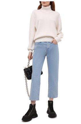 Женские кожаные ботинки ALEXANDER MCQUEEN черного цвета, арт. 633900/WHZ62 | Фото 2 (Каблук высота: Низкий; Материал внутренний: Натуральная кожа; Подошва: Платформа; Женское Кросс-КТ: Хайкеры-ботинки)