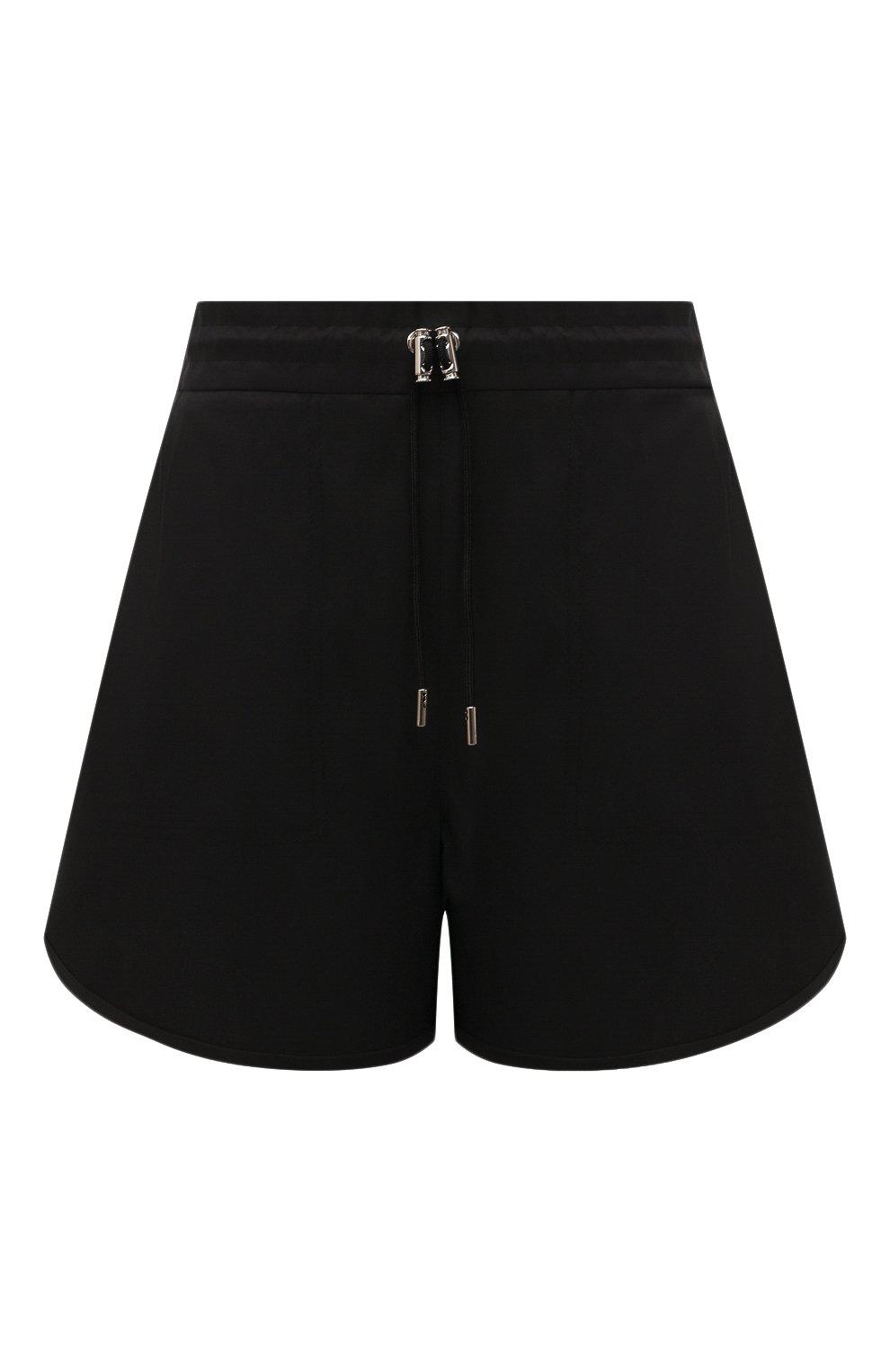 Женские шорты ALEXANDER MCQUEEN черного цвета, арт. 661560/QEACM | Фото 1 (Женское Кросс-КТ: Шорты-одежда; Длина Ж (юбки, платья, шорты): Мини; Материал внешний: Синтетический материал; Стили: Спорт-шик)