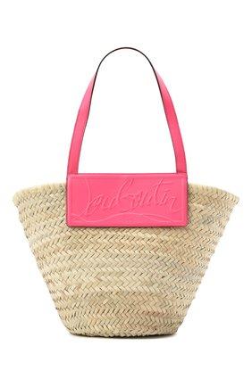 Женская сумка-тоут loubishore CHRISTIAN LOUBOUTIN розового цвета, арт. 1215220/L0UBISH0RE   Фото 1