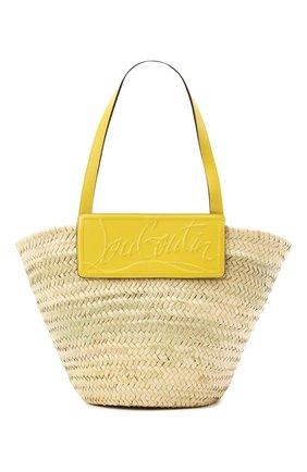 Женская сумка-тоут loubishore CHRISTIAN LOUBOUTIN желтого цвета, арт. 1215220/L0UBISH0RE | Фото 1