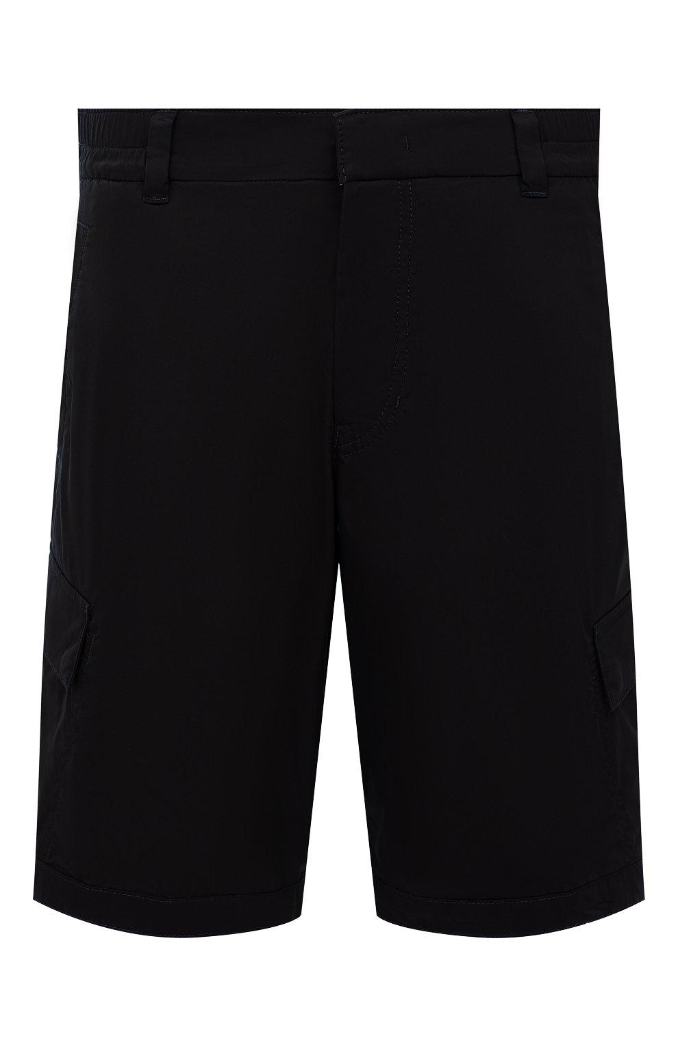 Мужские хлопковые шорты BOGNER темно-синего цвета, арт. 18173753 | Фото 1 (Мужское Кросс-КТ: Шорты-одежда; Принт: Без принта; Длина Шорты М: Ниже колена; Материал внешний: Хлопок; Стили: Спорт-шик)