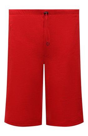 Мужские шорты из хлопка и льна Y-3 красного цвета, арт. GV4212/M | Фото 1 (Длина Шорты М: Ниже колена; Материал внешний: Хлопок; Кросс-КТ: Трикотаж; Принт: Без принта; Стили: Спорт-шик)