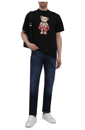 Мужские джинсы 7 FOR ALL MANKIND темно-синего цвета, арт. JSMSL390DE | Фото 2