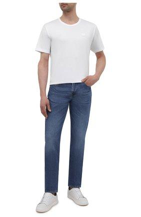 Мужские джинсы 7 FOR ALL MANKIND синего цвета, арт. JSMSK850GB | Фото 2