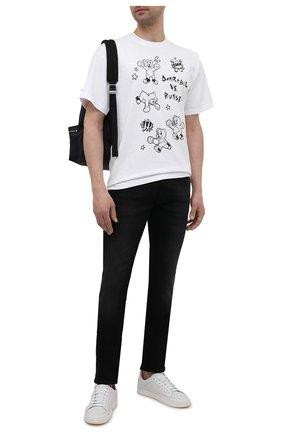 Мужская хлопковая футболка DOMREBEL белого цвета, арт. RUMBLE/T-SHIRT | Фото 2 (Материал внешний: Хлопок; Рукава: Короткие; Длина (для топов): Стандартные)