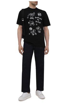 Мужская хлопковая футболка DOMREBEL черного цвета, арт. RUMBLE/T-SHIRT | Фото 2