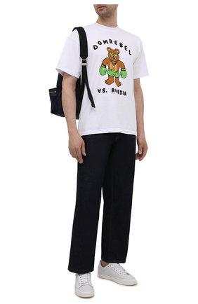 Мужская хлопковая футболка DOMREBEL белого цвета, арт. CASH PRIZE/T-SHIRT | Фото 2 (Длина (для топов): Стандартные; Рукава: Короткие; Материал внешний: Хлопок; Принт: С принтом; Стили: Гранж)