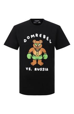 Мужская хлопковая футболка DOMREBEL черного цвета, арт. CASH PRIZE/T-SHIRT | Фото 1