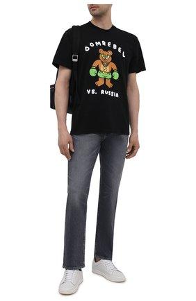 Мужская хлопковая футболка DOMREBEL черного цвета, арт. CASH PRIZE/T-SHIRT | Фото 2
