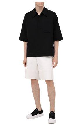 Мужские текстильные кеды ALEXANDER MCQUEEN черно-белого цвета, арт. 654594/W4MV7 | Фото 2