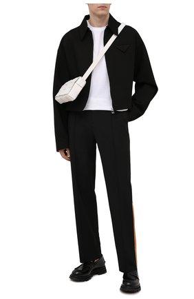 Мужские кожаные пенни-лоферы ALEXANDER MCQUEEN черного цвета, арт. 664618/WHZ80 | Фото 2 (Материал внутренний: Натуральная кожа; Стили: Кэжуэл)