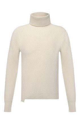 Мужской шерстяной свитер ALEXANDER MCQUEEN белого цвета, арт. 663617/Q1AUS | Фото 1