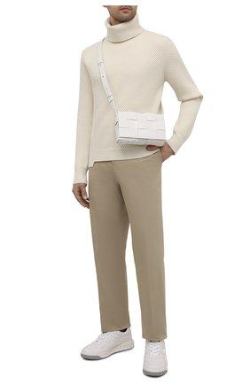 Мужской шерстяной свитер ALEXANDER MCQUEEN белого цвета, арт. 663617/Q1AUS | Фото 2