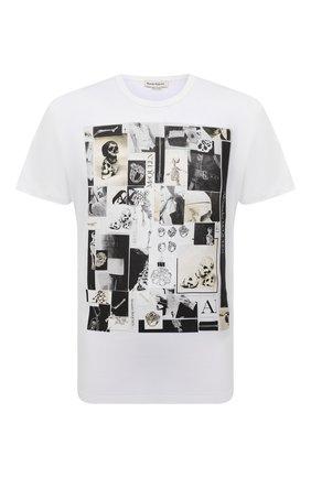 Мужская хлопковая футболка ALEXANDER MCQUEEN белого цвета, арт. 662589/QRZ75 | Фото 1 (Материал внешний: Хлопок; Принт: С принтом; Рукава: Короткие; Стили: Панк; Длина (для топов): Стандартные)