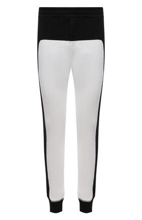 Мужские хлопковые джоггеры ALEXANDER MCQUEEN черно-белого цвета, арт. 662573/QRX87 | Фото 1 (Длина (брюки, джинсы): Стандартные; Материал внешний: Хлопок; Силуэт М (брюки): Джоггеры; Мужское Кросс-КТ: Брюки-трикотаж; Стили: Спорт-шик)