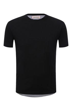 Мужская хлопковая футболка ALEXANDER MCQUEEN черного цвета, арт. 654775/QRX04 | Фото 1 (Рукава: Короткие; Материал внешний: Хлопок; Длина (для топов): Стандартные; Стили: Кэжуэл)