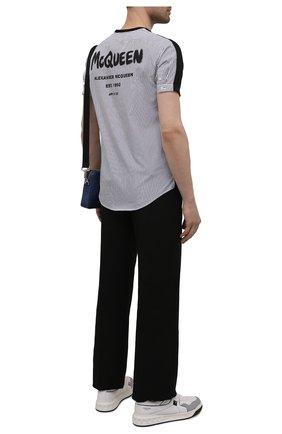 Мужская хлопковая футболка ALEXANDER MCQUEEN черного цвета, арт. 654775/QRX04 | Фото 2 (Рукава: Короткие; Материал внешний: Хлопок; Длина (для топов): Стандартные; Стили: Кэжуэл)