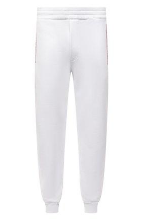 Мужские хлопковые джоггеры ALEXANDER MCQUEEN белого цвета, арт. 642664/QRX75 | Фото 1 (Материал внешний: Хлопок; Силуэт М (брюки): Джоггеры; Мужское Кросс-КТ: Брюки-трикотаж; Кросс-КТ: Спорт; Стили: Спорт-шик; Длина (брюки, джинсы): Стандартные)
