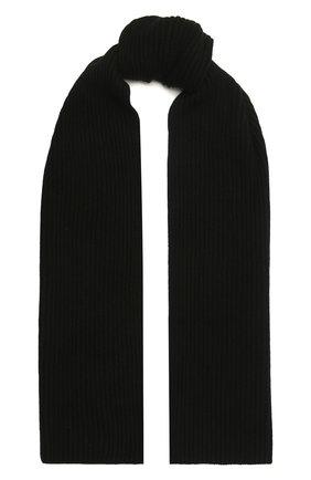 Мужской кашемировый шарф MOORER черного цвета, арт. S0VANA-CWS/M0USC100003-TEPA177   Фото 1