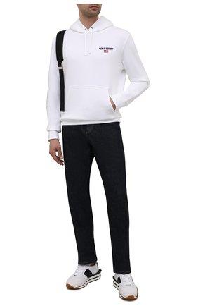Мужской хлопковое худи POLO RALPH LAUREN белого цвета, арт. 710835769 | Фото 2