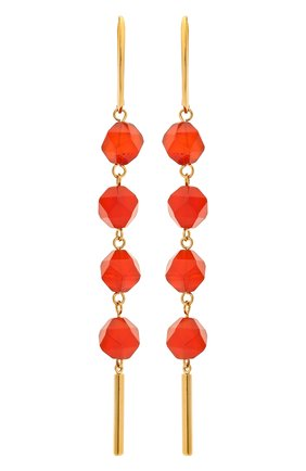 Женские серьги CRYSTALLINE JEWELLERY красного цвета, арт. 371C | Фото 1