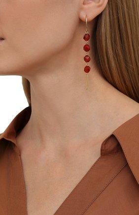 Женские серьги CRYSTALLINE JEWELLERY красного цвета, арт. 371C | Фото 2