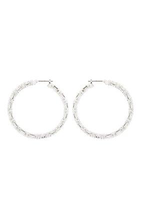Женские серьги-кольца millenia SWAROVSKI серебряного цвета, арт. 5598343 | Фото 1
