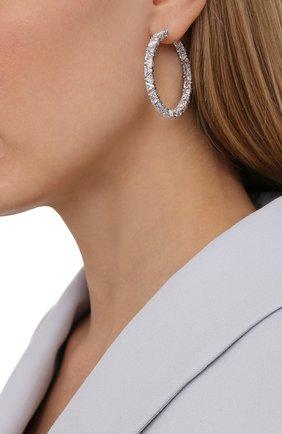 Женские серьги-кольца millenia SWAROVSKI серебряного цвета, арт. 5598343 | Фото 2