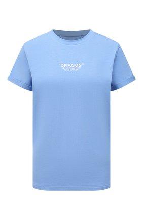 Женская хлопковая футболка SEVEN LAB голубого цвета, арт. T21-D blue   Фото 1