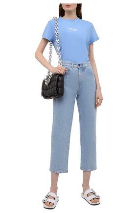 Женская хлопковая футболка SEVEN LAB голубого цвета, арт. T21-D blue   Фото 2