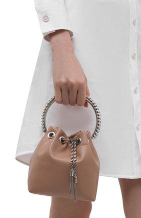 Женская сумка bon bon JIMMY CHOO светло-розового цвета, арт. B0N B0N/NAZ | Фото 2