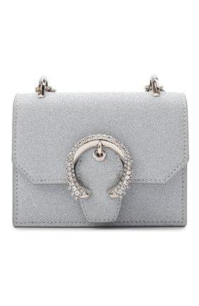 Женская сумка paris mini JIMMY CHOO серебряного цвета, арт. MINI PARIS/Z0K | Фото 1