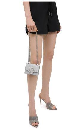 Женская сумка paris mini JIMMY CHOO серебряного цвета, арт. MINI PARIS/Z0K | Фото 2