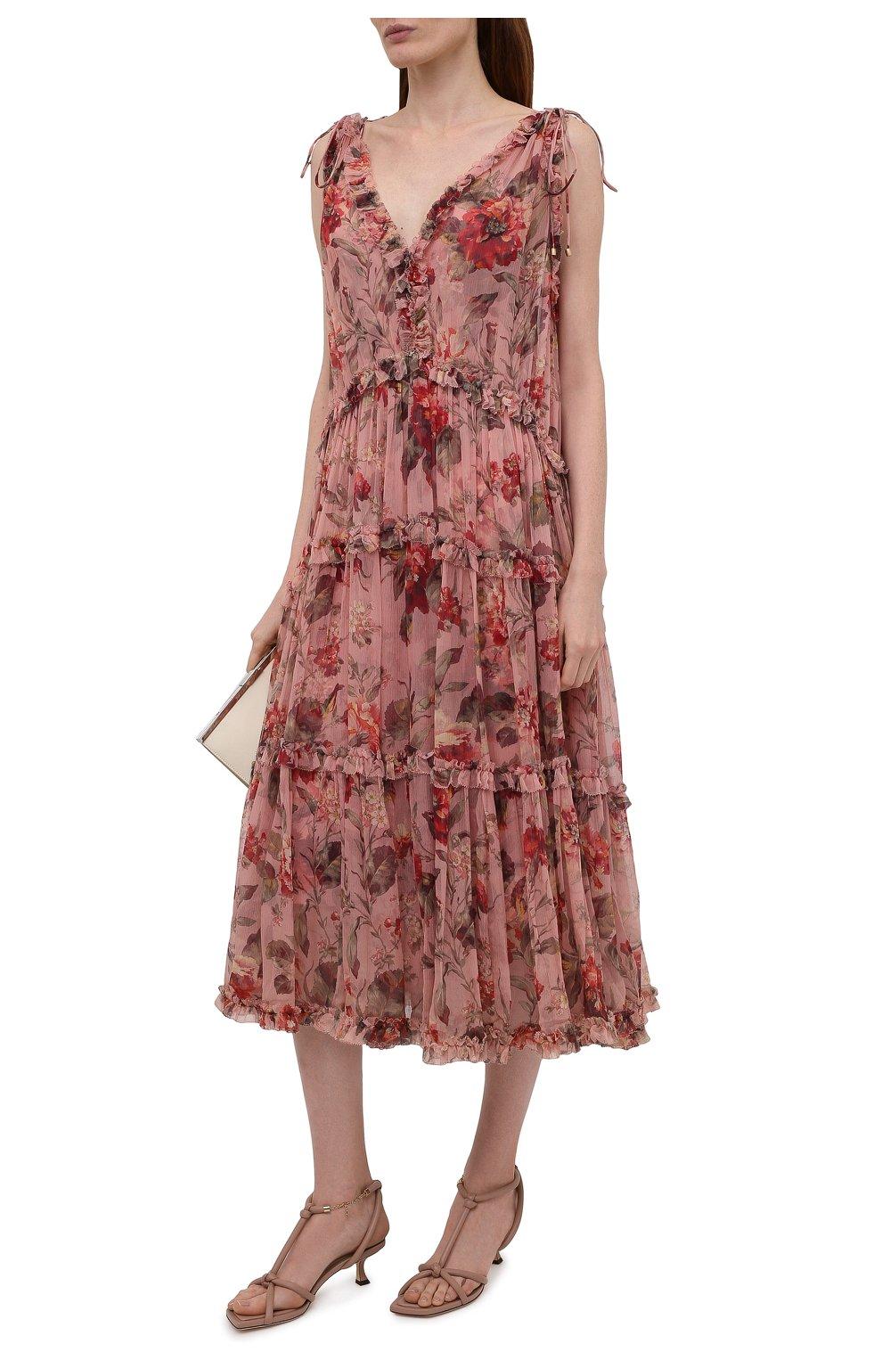 Женские кожаные босоножки fort 50 JIMMY CHOO розового цвета, арт. F0RT 50/NAP | Фото 2