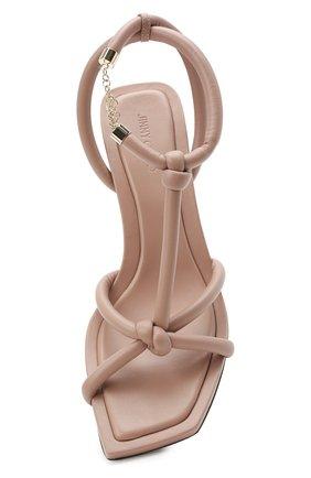 Женские кожаные босоножки fort 50 JIMMY CHOO розового цвета, арт. F0RT 50/NAP | Фото 5