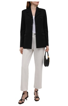 Женские кожаные босоножки fort 50 JIMMY CHOO черного цвета, арт. F0RT 50/NAP | Фото 2