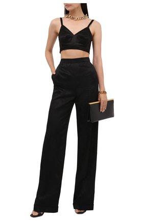 Женские брюки SAINT LAURENT черного цвета, арт. 655046/Y234T   Фото 2