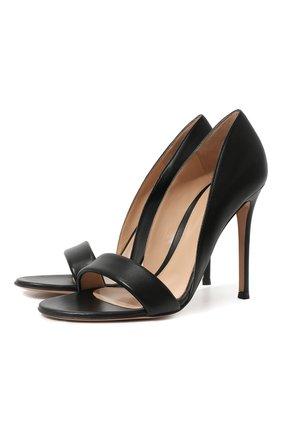 Женские кожаные туфли baiser GIANVITO ROSSI черного цвета, арт. G61686.15RIC.NAPNER0 | Фото 1