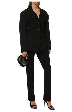 Женские кожаные туфли baiser GIANVITO ROSSI черного цвета, арт. G61686.15RIC.NAPNER0 | Фото 2