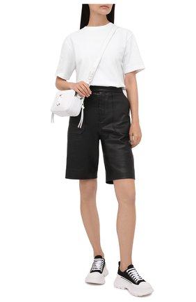 Женские текстильные ботинки tread slick ALEXANDER MCQUEEN черно-белого цвета, арт. 611705/W4MV2 | Фото 2 (Материал внешний: Текстиль; Материал внутренний: Натуральная кожа; Подошва: Платформа; Женское Кросс-КТ: Военные ботинки)