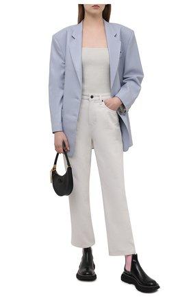 Женские кожаные ботинки ALEXANDER MCQUEEN черного цвета, арт. 641837/WHZ8H | Фото 2 (Каблук высота: Низкий; Материал внутренний: Натуральная кожа; Подошва: Платформа; Женское Кросс-КТ: Челси-ботинки)