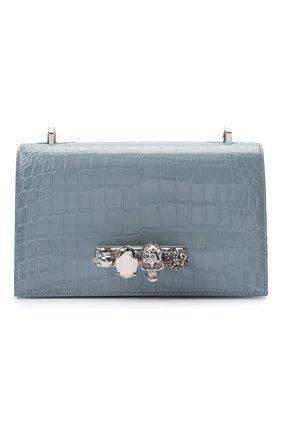 Женская сумка jewelled satchel ALEXANDER MCQUEEN синего цвета, арт. 554128/1HB02   Фото 1